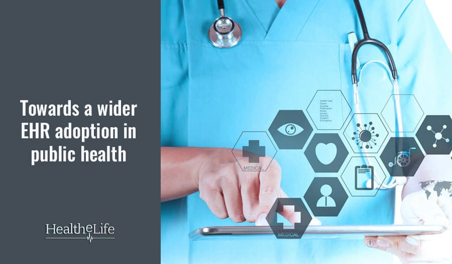 The challenges India is facing in adopting EHR widely to improve the level of public healthcare.